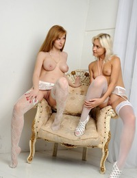 """""""Stunning and arousing duo Giselle and Cristina with teasing poses and lusty personality, baring and showcasing their gorgeous physique and fresh"""